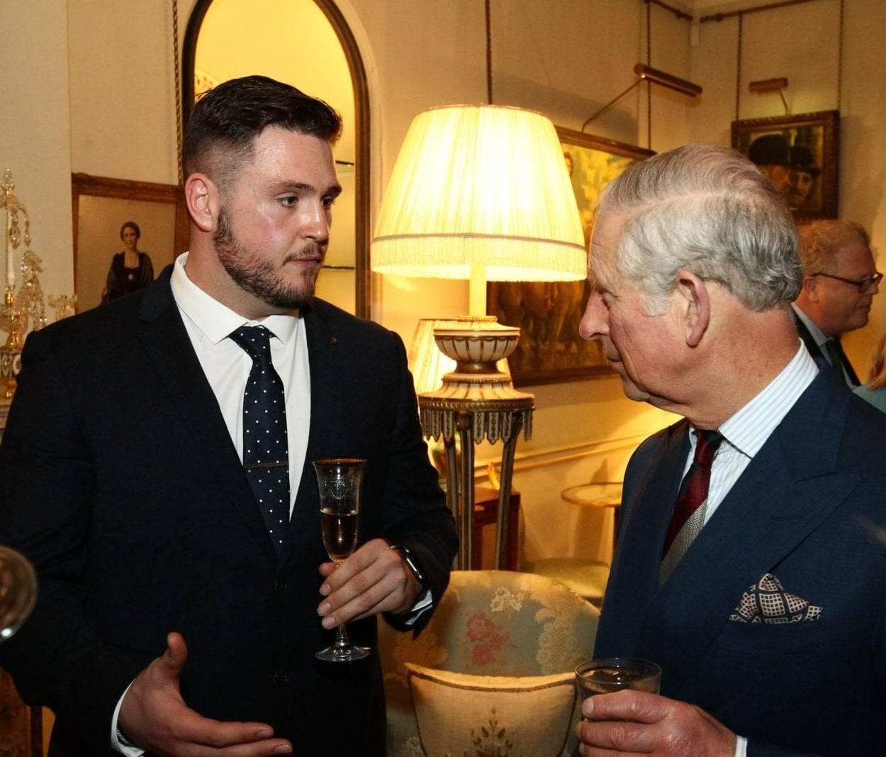 Luke Ambler meeting Prince Charles
